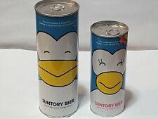 1.5 L & 700 ml Suntory Penguin Empty Bottom opened Beer Cans