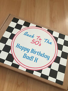 1 Personalised 1950's Retro Sweet Box, Gift, Present for him/her birthday