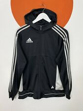 Youth Junior Adidas Zip Up Hoodie Top Jacket Black UK Size 15-16 Years
