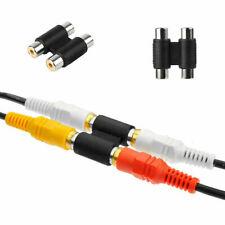 Coupleur Phono RCA Femelle à Femelle Adaptateur Connecteur AV Double Audio Vidéo