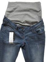 New Womens Blue Bootcut Maternity NEXT Jeans Size 10 8 Long Regular Short