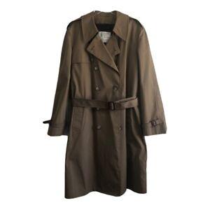 London Fog Men's Trench Coat Brown Size 44 Long