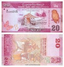 Sri Lanka 20 ROUPIES 2010 P-123 billets UNC