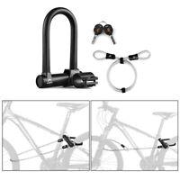Serrure U-Lock Et Câble Anti-Vol De Sécurité Bicyclette Cadenas De Vélo