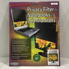 """Kantek Secure View LCD Privacy Filter For 19"""" SVL190"""
