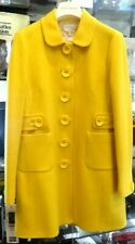 Anna Thomas Yellow 100% Wool Coat Size AU12-Excellent Condition