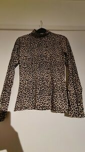 Vintage Small Leopard Print Long Sleeve T-shirt Size S