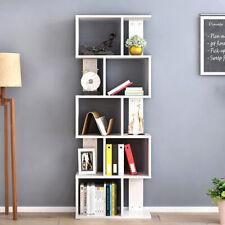 10 Cube White Tall Bookshelf Corner Bookcase Shelving Unit Book Shelf Storage UK