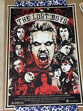 THE LOST BOYS Mondo poster print 45/165 JAMES RHEEM DAVIS 2008 Alamo Drafthouse