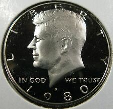 1980 S  Proof Kennedy Half Dollar Deep Cameo Clad Proof Coin