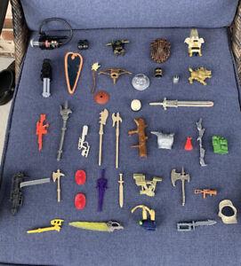 Vintage MOTU, Kenner, Etc Weapons & Accessories Lot - 1970's & 1980's