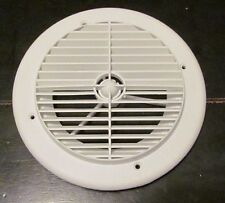 "7"" White Round Ceiling A/C Air Port Vent Rotate Louvers 1/4"" Collar RV Motorhome"