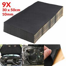 9pcs 10mm Car Sound Noise Deadening Heat Shield Insulation Proofing Foam 30x50cm