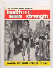 HEALTH and STRENGTH muscle magazine/ARNOLD SCHWARZENEGGER/Dave Draper/Park 12-70