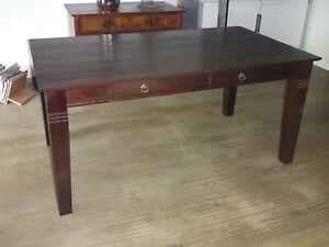 Massiv Holz Esstisch Tisch Esszimmertisch Landhaustil Kolonialstil 160x90x76 cm