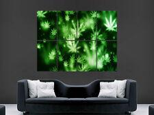 Hierba de marihuana de pared gigante de arte cartel impresión de foto Grandes Enormes