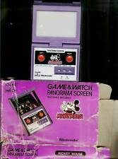 1984 MICKEY MOUSE PANORAMA NINTENDO GAME & WATCH + BOX VINTAGE DISNEY TOY 1980s