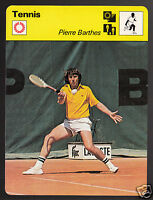 PIERRE BARTHES French Tennis Player Photo 1978 SPORTSCASTER CARD 41-04