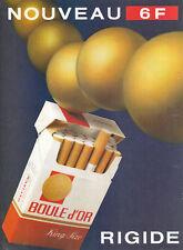 Publicité ancienne cigarettes Boule d'Or 1982  issue de magazine