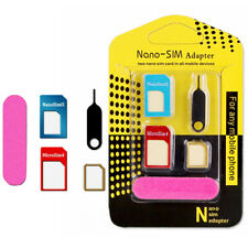 UNIVERSAL 5 IN 1 NANOSIM CARDS TO MICRO STANDARD ADAPTER CONVERTER FOR PHONE