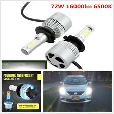 Pair Car H7 LED Headlight Bulbs Conversion Cree COB 72W 16000lm 6500K Plug Play