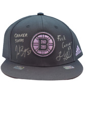 Brad Marchand, Bergeron Boston Bruins DUAL signed Hockey Fights Cancer hat