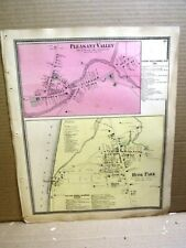 New Listing1867 Villages Plesant Valley Hyde Park Maps, Dutchess County Ny Beers Atlas
