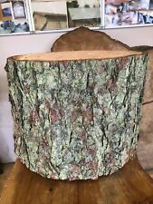 "Large 14"" Rustic Log Stump With Bark, Cake Stand, Woodland Wedding Feature"