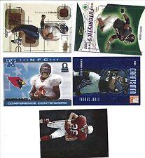Thomas Jones rookie card lot of 17 Cardinals Virginia
