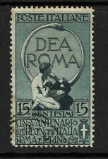Italy SC# 122, Used, Hinge Remnants, some minor perf toning - S4227