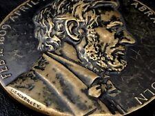 """US President Abraham Lincoln Bronze Medal Medallic Art Co / 70 mm 2 3/4"""" / N138"""