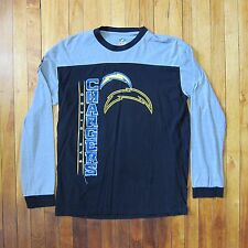 NFL XL Black & Grey 'San Diego Chargers' Front and Back Decal Long Sleeve TShirt
