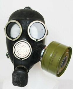 WW2 Gas Mask GP-7, filter Soviet Russian NEW VINTAGE GENUINE RETRO USSR black