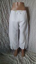 Annette Gortz white parachute linen/viscose cropped trousers size 40