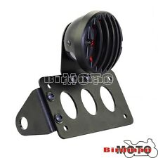 Anodized Number Plate Brake Rear Tail Light Side Mount For Harley Sportster New