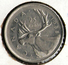 CANADA   25 Cents   1988