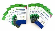 Lycamobile $23 X10 Sim Card Preloaded 1 Month Plan Text Talk Data & Intl Calling