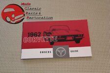62 Corvette Owners Manual