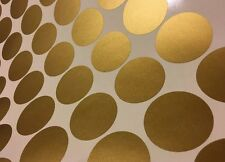 Polka dot stickers round  gold wall dots home decor vinyl Removable
