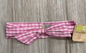 Crazy 8 Pink Check Bow Headband Bandeau