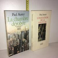 Paul Auster LA CHAMBRE DEROBEE + L'INVENTION DE LA SOLITUDE Actes Sud - ZZ-5964