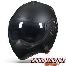Helmet Visor Roof Boxer V8 Full Black Ro5 Convertible Jet Scooter Motorcycle S