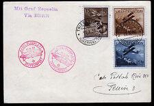Zeppelin 1930,Sonderabfertigung Basel 12.10.30,Zuleitung Liechtenstein Sieger 95