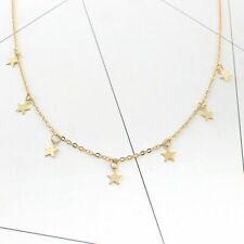 Five Pointed Star Pentagram Charm Tassel Pendant Choker Clavicle Chain Necklace