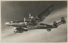 Postcard 1115 - Aircraft/Aviation Real Photo Lockheed L 049 Constellation
