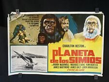 "1968~ PLANE OF THE APES~ Charlton Heston~ Orgnl MX Movie Poster~22""x15"""