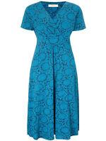 Seasalt Chapelle Dress plus size 16 18 20 22 sunflower garden night blue cotton
