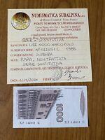 BANCONOTA LIRE 1000 MARCO POLO 1988 SERIE SOSTITUTIVA X RARA certificata SUPERBA