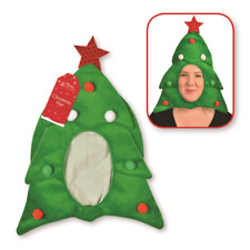 Christmas Tree Face Hat Funny Star Xmas Festive Adult Novelty Green Party