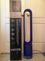 Dyson TP02 Pure Cool Link Fan Air Purifier Tower, White Blue, New, Sealed